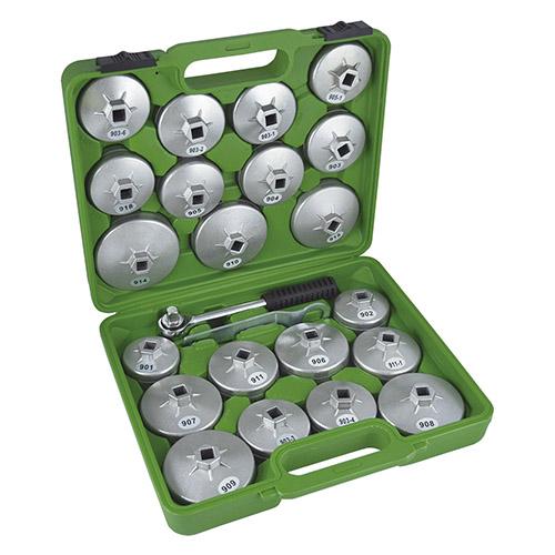 JBM Juego de extractores para filtros de aceite / 23 piezas en aluminio 51332