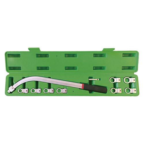 JBM Juego de llaves curvadas para extracción de correa con cabezal intercambiable 52832