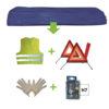 JBM Kit emergencia bolsa azul + mk h7 + chaleco + triang. + guantes 52770