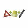 JBM Kit emergencia bolsa mini negra + triangulo + chaleco 53093