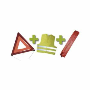 JBM Kit emergencia bolsa mini roja + triangulo + chaleco – 53094
