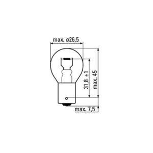 JBM Lámpara OBN 12v 1 polo – 52366