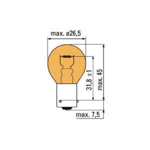 JBM Lámpara OBN ambar 12v 21w bau15s – 52867