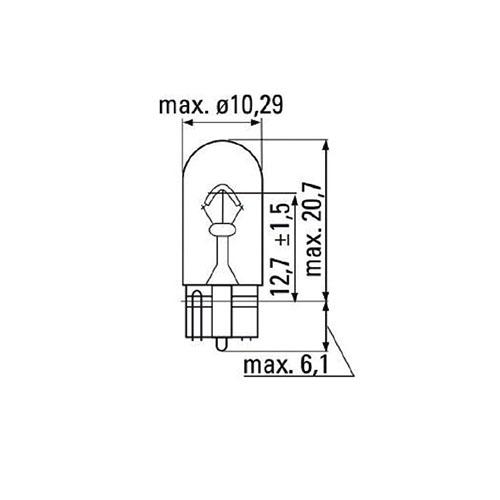 JBM Lámpara OBN wedge 12v 5w t10 52861