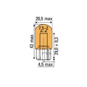 JBM Lámpara OBN wedge 21w 12v t20 ámbar – 52863