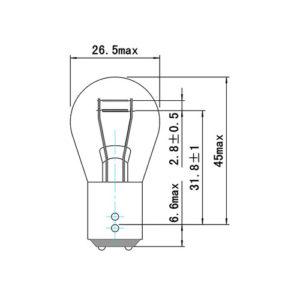 JBM Lampara OBN 12v 21/4w baz15d – 52868