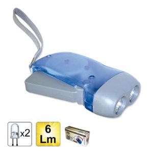 JBM Linterna de dinamo de 2 LEDs – 51573