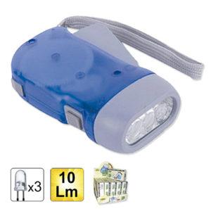JBM Linterna de dinamo de 3 LEDs – 51446