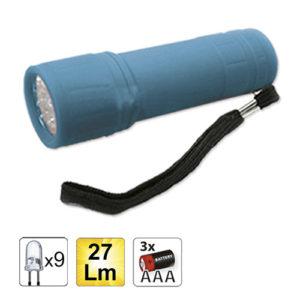 JBM Linterna plástica 9 LEDs – azul – 52556