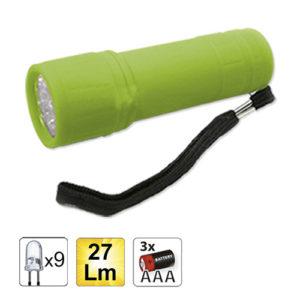 JBM Linterna plástica 9 LEDs – verde – 52555