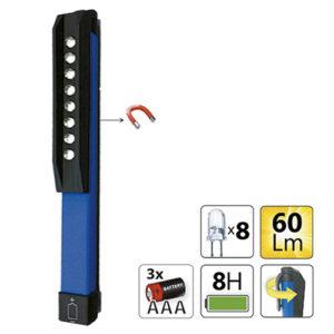 JBM Mini linterna 8 LEDs imantada – 52582