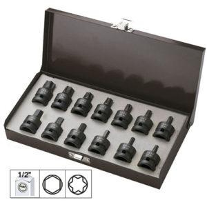 JBM Set de 13 puntas de impacto de 1/2″ hexagonal y torx – 52344