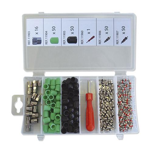 JBM Set de tapones y obuses para neumáticos 52673