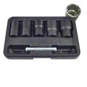 JBM Set de vasos twist de 1/2″ para extracción de tuercas / tornillos de seguridad – 52153