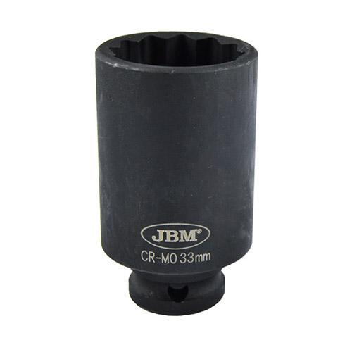 """JBM Vaso de impacto 12 cantos 1/2"""" 33mm 11616"""