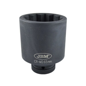JBM Vaso de impacto 12 cantos 1″ 65mm – 11624