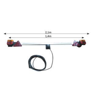 JBM Barra telescópica para remolque de 1,4 a 2,1m – 52458
