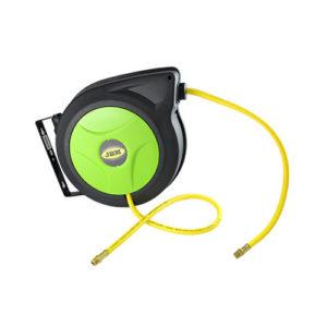 JBM Carrete de manguera de aire 12m – boca de 3/8″ verde – 51299
