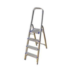 JBM Escalera de aluminio con 4 peldaños – 50517