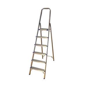 JBM Escalera de aluminio con 6 peldaños – 50518