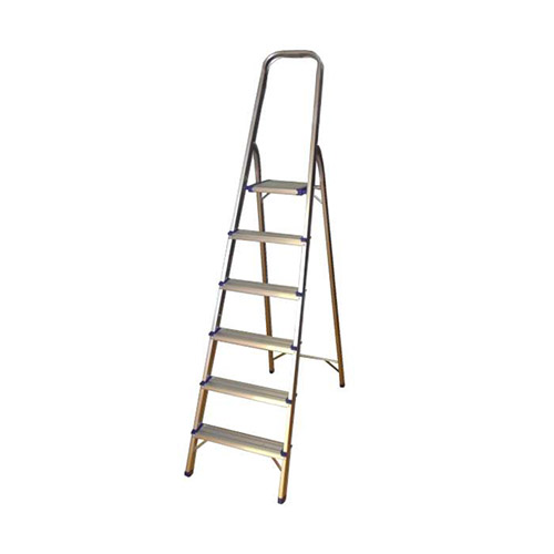 JBM Escalera de aluminio con 6 peldaños 50518