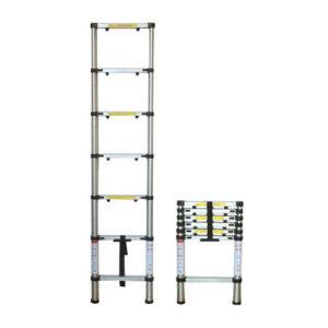 JBM Escalera telescópica 6 pasos – 51982