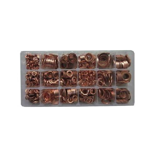 JBM Estuche de arandelas 18 cobre 900 piezas 52030