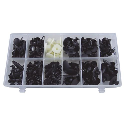 JBM Estuche de clips plásticos Nissan 139 piezas 52894
