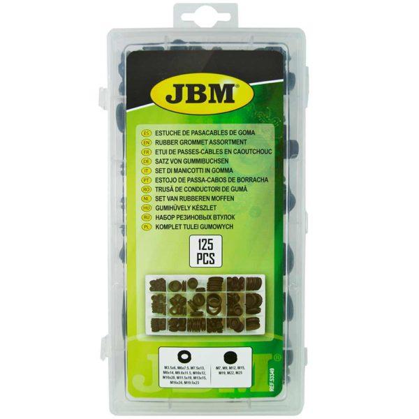 Paquete del estuche pasacables de goma de JBM