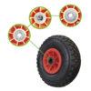 JBM Rueda de plastico para carro de acero 12055